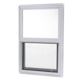 Project Source 20000 Series Vinyl Single Pane Single Strength New Construction Single Hung Window (Rough Opening: 18-in x 24-in; Actual: 17.5-in x 23.5-in)