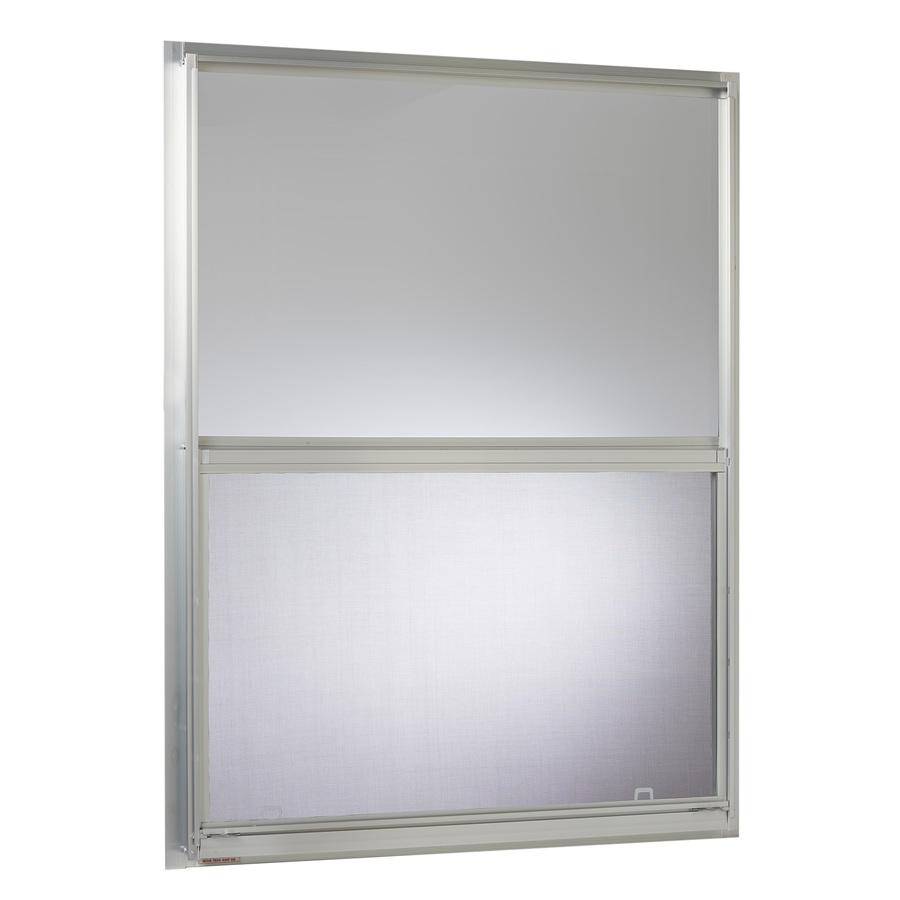 Single Pane Single Hung Window : Shop project source aluminum single pane strength