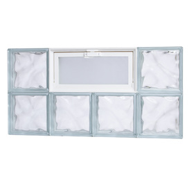 Shop tafco 300 series frameless replacement glass block for Glass blocks for crafts lowes