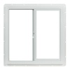 Project Source 24-in x 24-in Utility Series Left-Operable Vinyl Single Pane Sliding Window