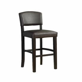 Linon Monaco Espresso 30-in Bar Stool