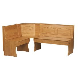 "Linon Corner Nook Natural 67"" Dining Bench"