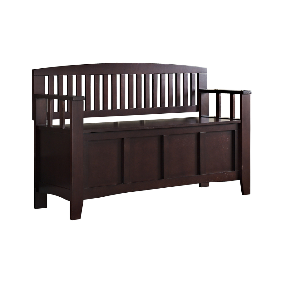 Shop Linon Espresso Indoor Entryway Bench with Storage at Lowes.