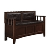 lowes deals on Linon Lofton Espresso Indoor Accent Bench