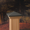 Maine Ornamental Pewter Deck Post Cap