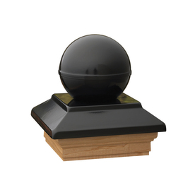 Maine Ornamental 4-in x 4-in Victoria Black Ball Cap Treated Post Cap