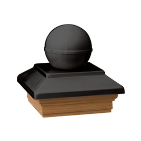 Maine Ornamental 6-in x 6-in Victoria Black Ball Cap Treated Post Cap