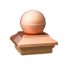 Maine Ornamental 4-in x 4-in Copper Post Cap