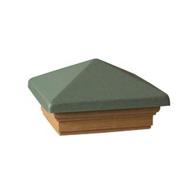 Maine Ornamental Green Deck Post Cap
