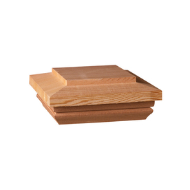 Maine Ornamental 4-in x 4-in Redwood Post Cap