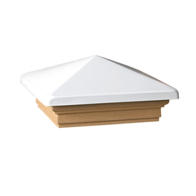 Maine Ornamental 6-in x 6-in Victoria White High Point Treated Post Cap