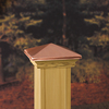 Maine Ornamental Copper Deck Post Cap