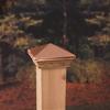 Maine Ornamental Copper Deck Post Cap
