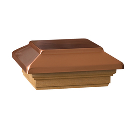 ornamental copper solar light post cap at lowes caps decking outdoor