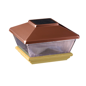 Maine Ornamental 6-in x 6-in Copper Solar Post Cap
