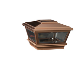 Maine Ornamental 4-in x 4-in Copper and Composite Solar Post Light