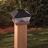 Maine Ornamental Black LED Deck Post Cap