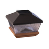 Maine Ornamental 4-in x 4-in Black Aluminum and Wood Solar Post Cap