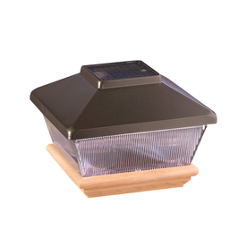 Maine Ornamental 4-in x 4-in Pewter Plastic and Wood Solar Post Cap