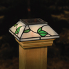 Maine Ornamental Stained Glass LED Deck Post Cap
