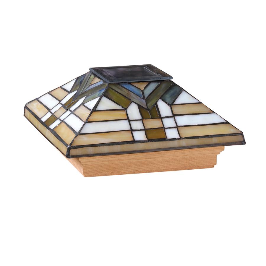shop 6x6 tiffany mission cedar solar post light at. Black Bedroom Furniture Sets. Home Design Ideas