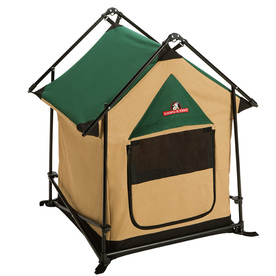 Lucky Dog 2-ft x 2-ft x 2.92-ft Green and Tan Collapsible Wire and Fabric Pet Crate
