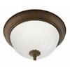 Good Earth Lighting 11-1/4-in Bronze Ceiling Flush Mount
