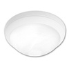 Portfolio 15-in W Metro White Ceiling Flush Mount