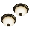 Good Earth Lighting 2-Pack 11.25-in W Taverna Oil-Rubbed Bronze Ceiling Flush Mount