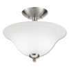 Good Earth Lighting 13-in W Taverna Brushed Nickel Alabaster Glass Semi-Flush Mount Light