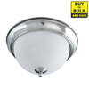 Good Earth Lighting 12.625-in W Taverna Brushed Nickel Ceiling Flush Mount