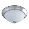 Good Earth Lighting 19-1/2-in Brushed Nickel Ceiling Flush Mount