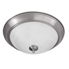 Good Earth Lighting 16.25-in W Taverna Brushed Nickel Ceiling Flush Mount