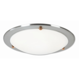 Good Earth Lighting 15.25-in W Laguna Brushed Nickel Ceiling Flush Mount