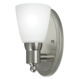 Good Earth Lighting Danube 5.25-in W 1-Light Brushed Nickel Arm Hardwired Wall Sconce