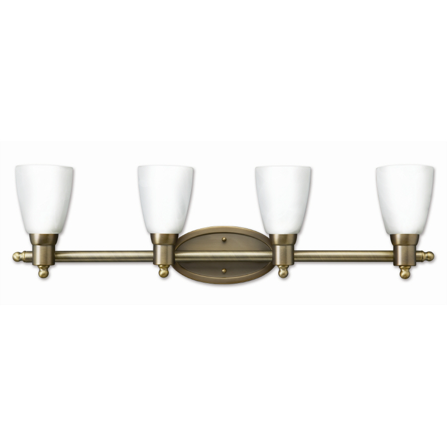 Vanity Light Antique Brass : Shop Good Earth Lighting 4-Light Danube Antique Brass Bathroom Vanity Light at Lowes.com