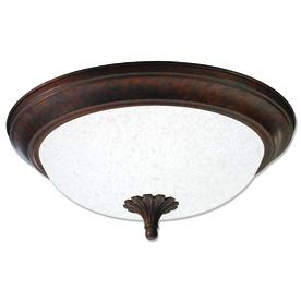 Good Earth Lighting Barrington 15.25-in W Antique Bronze Ceiling Flush Mount