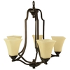 Good Earth Lighting 5-Light Metropolitan Bronze Chandelier