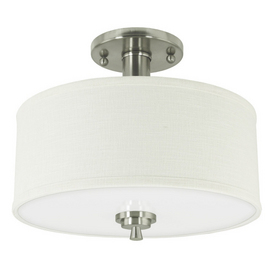 "Good Earth Lighting 12"" Brushed Nickel Ceiling Semi-Flush Mount"