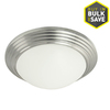 Good Earth Lighting 13.625-in W Andiamo Brushed Nickel Ceiling Flush Mount