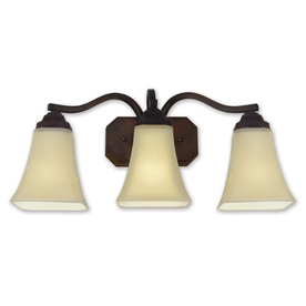 Shop Good Earth Lighting 3-Light Metropolitan Bronze Bathroom