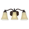 Good Earth Lighting 3-Light Metropolitan Bronze Bathroom Vanity Light