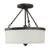 Good Earth Lighting Taos 17-in W Aged Bronze Frosted Glass Semi-Flush Mount Light