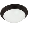 Good Earth Lighting 4-1/2-in Bronze Ceiling Flush Mount