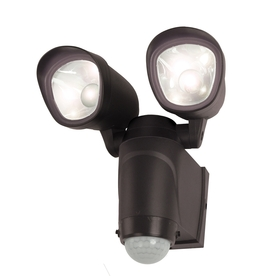 Utilitech 110-Degree 2-Head Black LED Motion-Activated Flood Light