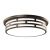 Good Earth Lighting 17-in W Dark Bronze LED Ceiling Flush Mount