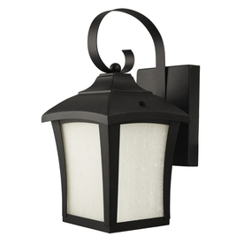 Good Earth Lighting 12-in Black Outdoor Wall Light