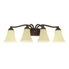 Good Earth Lighting 4-Light Metropolitan Bronze Bathroom Vanity Light