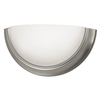 Good Earth Lighting Taverna 11.25-in W 1-Light Brushed Nickel Pocket Hardwired Wall Sconce