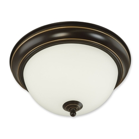 Good Earth Lighting Brentwood 11.25-in W Oil-Rubbed Bronze Ceiling Flush Mount Light